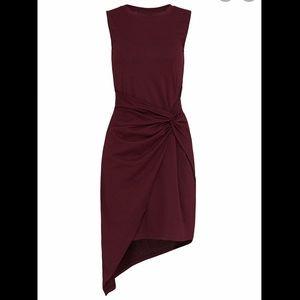 🎉 Trouve Twist Front Burgundy Dress
